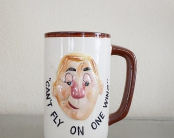 Vintage Hand Painted Bill Mug
