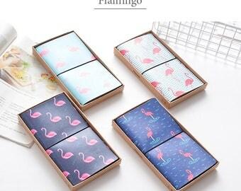 Flamingo Travel Journal - Travelers Notebook - Refillable - Flamingo Notebook