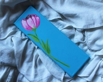 Flower Mini Canvas | Hand painted, Canvas, Wall Decor