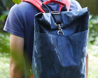 Navyblue Roll Top Back Pack