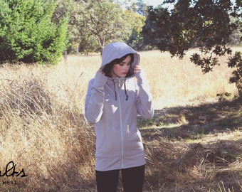 The Salts Zip-Up Bamboo Fleece Hooded Sweater