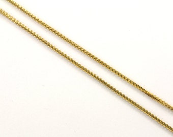 14K Yellow Gold Foxtail Design Chain Necklace  GNC 122-E