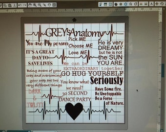 Grey's Anatomy SubWay Art -studio and png formats