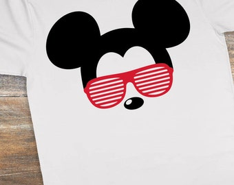 Mickey Mouse with Aviator Sunglasses