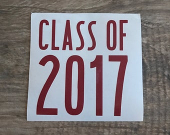 Class of 2017 Decal, Class of 2020 Decal, Class of 2018 Decal, Class of 2019 Decal