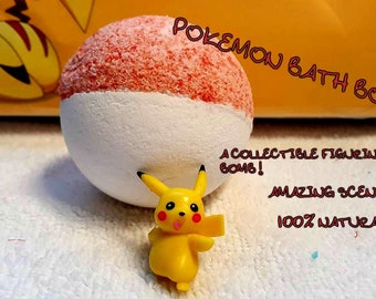 Pokemon Bath Bombs *Collectible Figurine In Each One!*