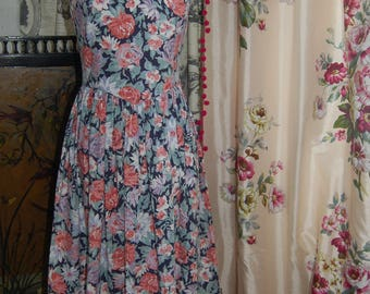 Vintage Laura Ashley floral dress 10