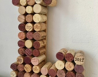 wine cork letters examples l m