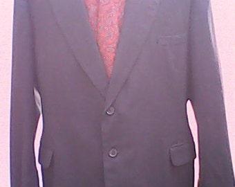 1950s Suit Charcoal Grey.