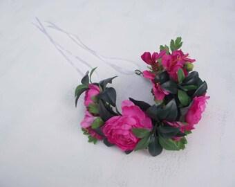 Bridal floral crown headpiece