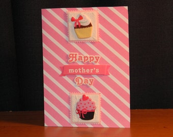 Pink Happy Mother's Day greeting card