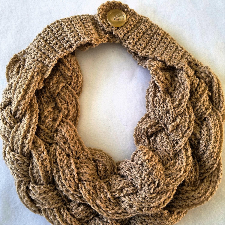 Crochet Cowl Crochet Cowl Scarf Braided Cowl Crochet Neck