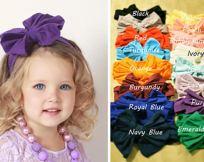 SALE!!! PICK COLOR Large Baby Girls Bow Headband, photo prop, birthday headband, baby headband, baby bows, over the top headbands, baby girl