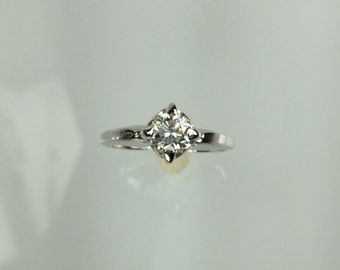 Vintage 1950's diamond engagement ring .48ct