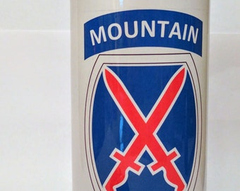 10th Mountain Army 20oz Aluminum Water Bottle