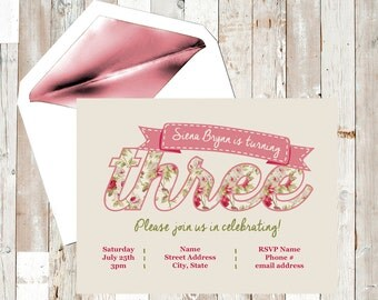 Third Birthday Party Invitation