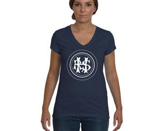 Hudson River State Hospital, Women's V-Neck HRSH Initials T-Shirt, Kirkbride Tee Shirt, Urban Explorer, Abandoned Tshirt, Urbex, Asylum