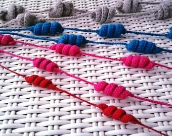 Whatever color cotton necklace