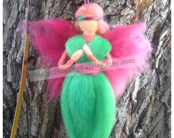 Needle Felted Fairy, Waldorf Inspired, Esme, Free Shipping