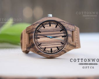 Mens Wooden Watch, Engraved Mens Wood Watch, Husband Birthday Gift, Personalized Mens Watch, Fathers Day Gift, Boyfriend Birthday Gift