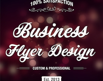 TriFold Flyer, Business Flyer, Custom Flyer, Flyer Design, Triple Fold Flyer, Event Flyer, Restaurant Flyer, Leaflet, Business Leaflet, Gift