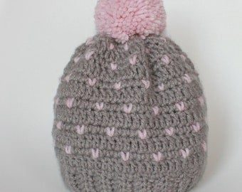 Snowfall Fitted Beanie for Adults or Teens - Customizable