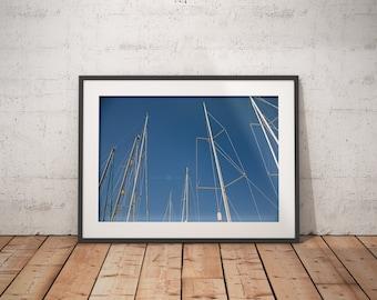 Boat Photography, North Carolina, Art, Unique Photography, Wall Art, Boat, Masts