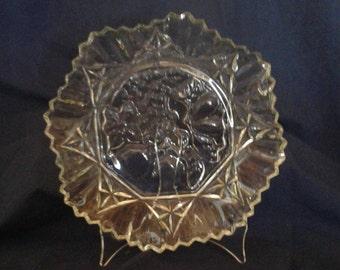 Vintage Federal Glass Pioneer Fruit Bowl, Ruffled Edge