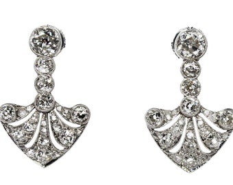 1930 Platinum and diamond earrings