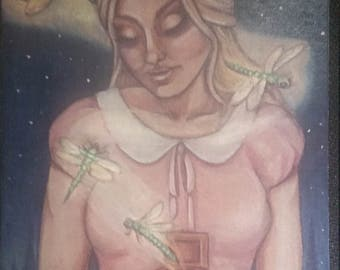 Girl With Dragonflies