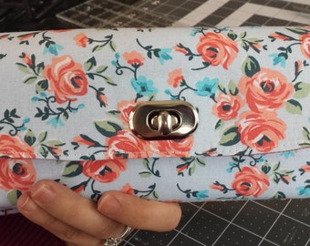 Light Blue Floral Women's Wallet