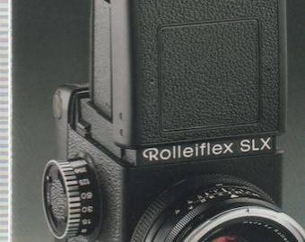 Rolleiflex SLX Fold Out Manual (1980's)