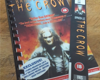 VHS Handmade Notepad - THE CROW