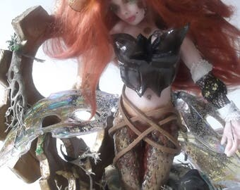 Anora ooak mermaid ook fairy one of a kind fantasy unique sculpture