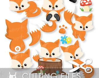 Fox cutting files, svg, dxf, pdf, eps included - cutting files for cricut and cameo - Cutting Files SVG - CT994