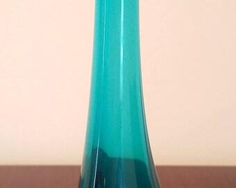 Vintage EPIC BLUE Bud Vase