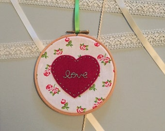 Loveheart Embroidery Hoop