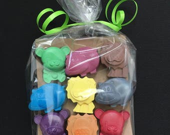 Zoo Animal Crayons (9 Animals)- Birthday Gift- Children's gift