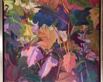 "Original oil painting, ""Oak Leaf Hydrangea"" 16x18"