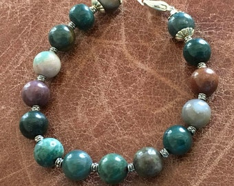 Multi colored jasper bracelet