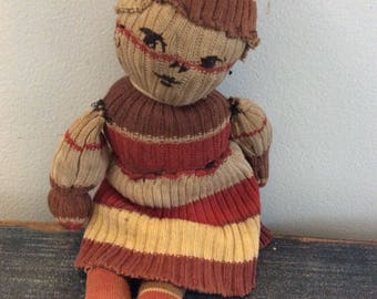 Antique sock doll