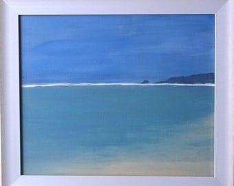 Perranporth towards Holywell Bay original painting