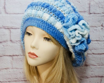 knit hat hand knit hat gift for her womens hat  hat handmade hat womens  hat modern beanie hats knitting Spring hat knit beret beret