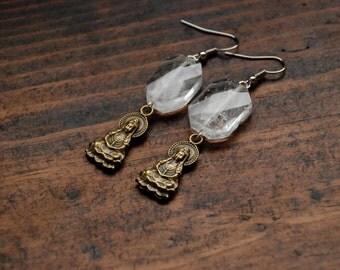 Crystal Quartz Goddess Earrings