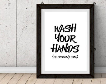 PRINTABLE: Wash Your Hands
