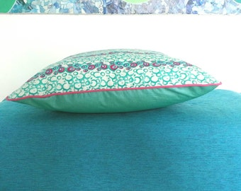 Pillow WAX turquoise and seagreen