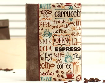 Notepad for coffee lover - ruled notepad - dot notepad - notepad A5 - coffee notepad