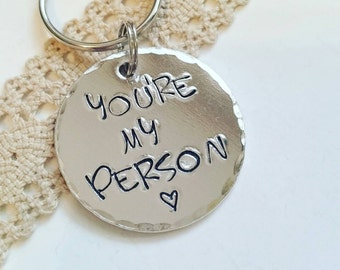 Personalized boyfriend gift, Best friend gift, personalised keyring, youre my person keychain, long distance boyfriend gift, girlfriend gift