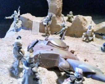 Star Wars Clone Trooper Battle Diorama