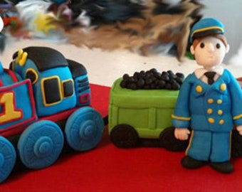 Fondant Thomas the Train Cake Toppers